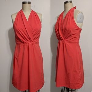 Athleta Go Anywhere Coral Halter Dress Size 10